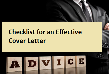 Checklist for an Effective Cover Letter