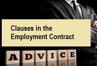 Clauses in the Employment Contract