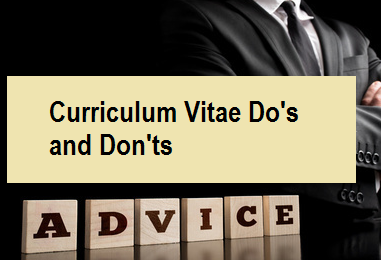 Curriculum Vitae Do's and Don'ts