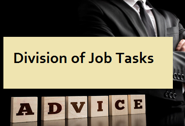 Division of Job Tasks