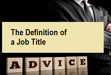 The Definition of a Job Title