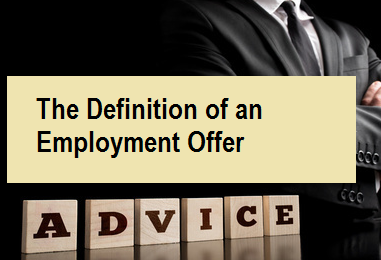The Definition of an Employment Offer
